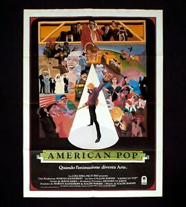 AMERICAN POP manifesto poster Bakshi Musical Animazione Cartoon Musica D94