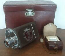 Bell & Howell Auto Master Filmo 16mm Motion Picture Camera w/ Wollensak Case +