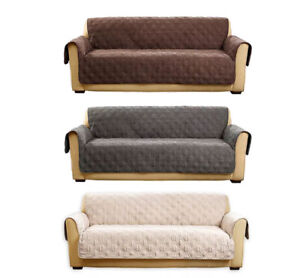 SUREFIT Quilted Pet Furniture Cover Sofa Protector Stain Dog Cat Kids Non-Slip
