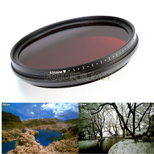 Adjustable Infrared Infra-Red IR Pass X-Ray Lens Filter 58mm 530nm to 720 750nm