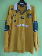 Maillot Rugby Australie WALLABIES Quantas Jersey Canterbury coton vintage - XL