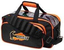 Hammer Double Tote 2 Ball Bowling Bag Black/Orange
