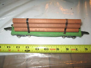 American Flyer Prewar O gauge 482 Green base Log car.