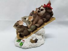 """Charming Tails Member Exclusive """"Sharing The Ride"""" By Fitz &Floyd Ex Condition"""
