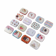 practical square iron box storage box wedding seal jewelry pill cases tin box EB