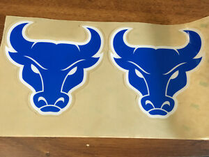 Buffalo Bulls Football Helmet Decals - Blue with White