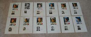 ORIGINAL COSMONAUT 12 AUTOGRAPHS SPACE GENUINE SIGNED CARDS WITH PHOTOS