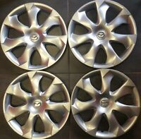 "2014-2018 Mazda 3 # 56557 16"" Wheel Covers / Hubcaps OEM # B45A37170 USED SET/4"