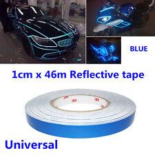 46M Car Truck Body Stripe DIY Self Adhesive Blue Reflective Sticker Vinyl Tapes