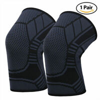 Knee Sleeve Compression Brace Support For Sport Joint Pain Arthritis Relief 2pcs