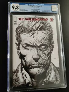 The Walking Dead Deluxe #1 2nd Print Red Foil CGC 9.8 Skybound