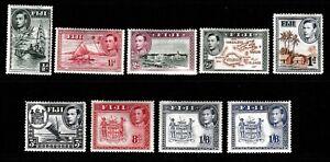 FIJI.   KING GEORGE VI, AND QUEEN ELIZABETH II,  USEFUL PART & COMPLETE SETS.