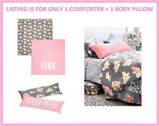 Victoria Secret Pink FLORAL LEOPARD TWIN XL REVERSIBLE COMFORTER BODY PILLOW SET