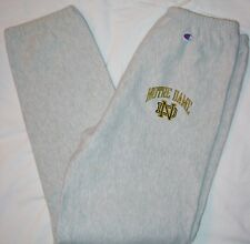 AWESOME RARE VINTAGE CHAMPION NOTRE DAME REVERSE WEAVE SWEATPANTS-SIZE XL-WOW!