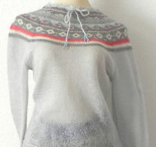 Frenchi Sweater Mohair Blend Multicolor Knit Size Small Scoop Neck
