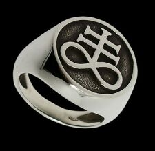 925 Sterling Silver Brimstone Ring Leviathan Cross - Sigil Of Sulfur All Sizes