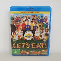 The Wiggles Let's Eat ABC Kids Bluray + DVD Combo, Like New, Free Postage