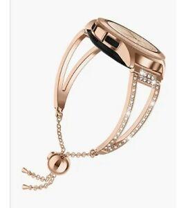 Watch band fits Samsung galaxy 40mm diamonds silver