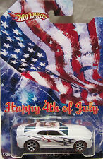 "Hot Wheels CUSTOM CHEVY CAMARO ""Happy 4th Of July"" Real Riders 1/25 Made !!!"