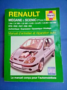 Manuel d'entretien et réparation auto - Renault Megane Scenic Phase 2 - Haynes