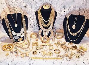 Vintage & Modern Goldtone Costume Jewelry Lot - Monet
