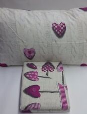 Completo lenzuola flanella Shabby Art.Wool Heart Singolo una piazza. A685