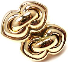Rare! Authentic Bulgari Bvlgari 18k Yellow Gold Cufflinks