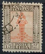 Libya Italian Colony 1926 SG#52a 15c Orange & Sepia P11 Used #A92532
