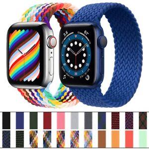 Apple Watch Strap Nylon Braided Solo Loop Elastic Strap serries 1,2,3,4,5,6 SE