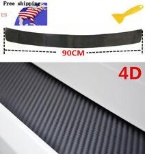 4D Carbon Fiber Car Stickers Car Auto Rear Bumper Trunk Tail Lip Protect Decal