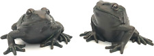 London Ornaments Set of Two Large Frogs