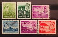 MAURITIUS GEORGE VI QEII 1950 1953 OLD STAMPS FINE USED MINT HINGED 01050319