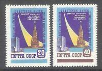 raumfahrt Space Rocket Flight 1959 set Tehnological Exhibition Mi 2240-41