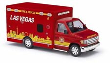 Busch 41870 - 1/87/h0 FORD e-350 Ambulance-Las Vegas Fire & Rescue-NUOVO