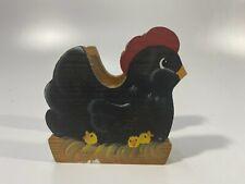 Black Wooden Mail Letter Holder Rooster