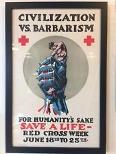 Authenic Original WWI Red Cross Propaganda Poster