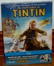 LAS AVENTURAS DE TINTIN EL SECRETO DEL UNICORNIO DIGIBOOK BLU-RAY+LIBRO NUEVO R2