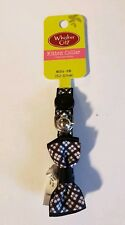 Whisker City- Black White Classic Plaid Bow Tie kitten collar w/breakaway