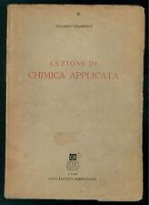 RIGAMONTI ROLANDO LEZIONI DI CHIMICA APPLICATA AMBROSIANA 1949