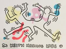 """KEITH HARING """"DANCING FIGURES"""" ORIGINAL LITHOGRAPH ON PAPER"""