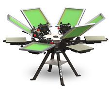 Vastex V 1000 Professional Screen Printing Manual Press 6 Station 6 Color V1 66