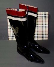 BNWT Beautiful Designer BURBERRY Ladies Black Patent Leather Boots 36 ITALY