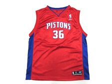 RBK NBA Detroit Pistons Rasheed Wallace #36 Basketball Jersey Youth Sz XL