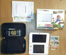 White NINTENDO 3DS XL CONSOLE (SPR-S-WADH, AUS, ver.11.6.0-39E) with games