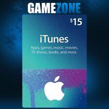 iTunes Gift Card $15 USD USA Apple iTunes Code 15 Dollars United States Digital