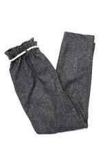 Zhoe & Tobiah  Childrens Girls Tie Waist Pants Grey Black Size 12