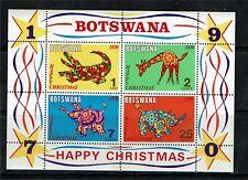 Botswana 1970 Christmas MS SG275 MNH