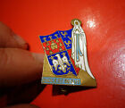 Ancienne Broche émaillée au Blason de la Ville de Puy en Velais & la Vierge