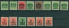 Deutsches Reich 301 - 312 A+B , ** ,