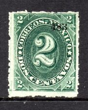 Mexico 1882 Foreign Mail Small Numeral 2¢ Green Hermosillo Thin Paper MX165